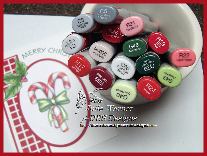 Candy Cane Christmas copics 04119