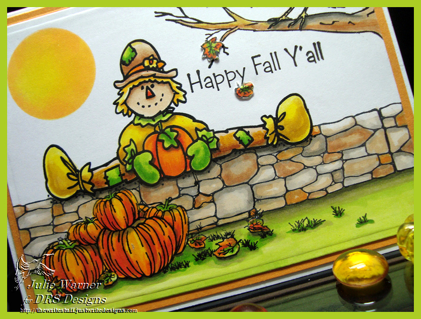 Fall Scarecrow on Wall cu07583
