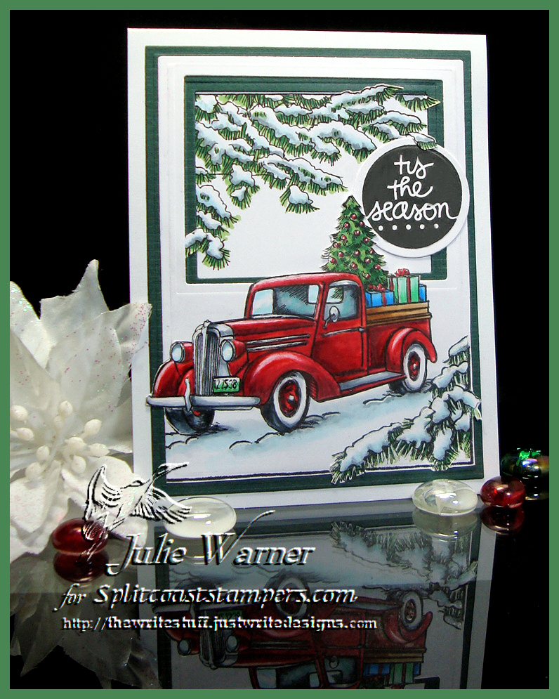 Red Christmas Truck 08067