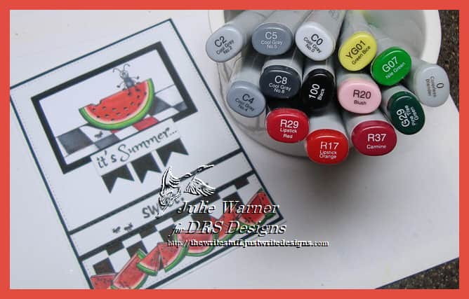 Summer Watermelon copics 09646
