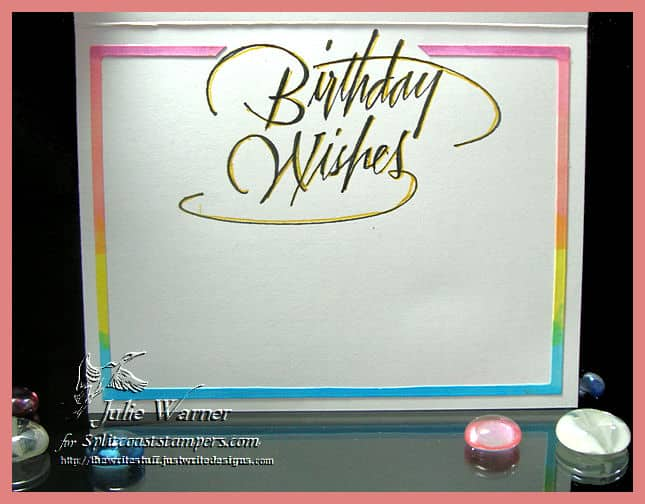 Birthday The Write Stuff