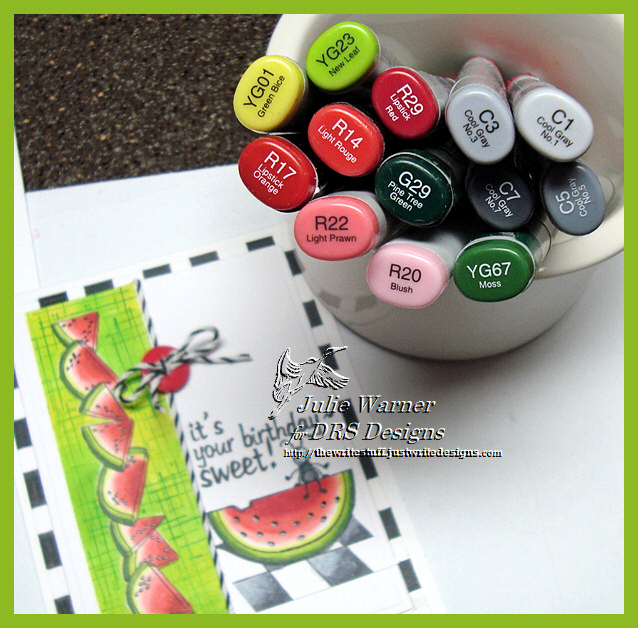 Sweet Watermelon Birthday copics 04295