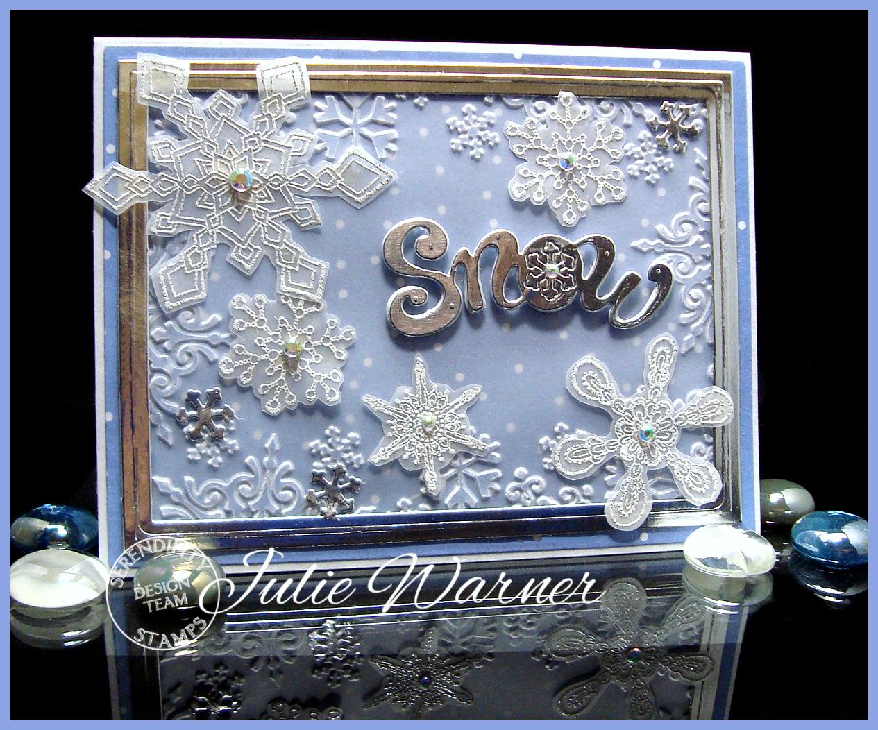 Embossed Snowflakes 04730