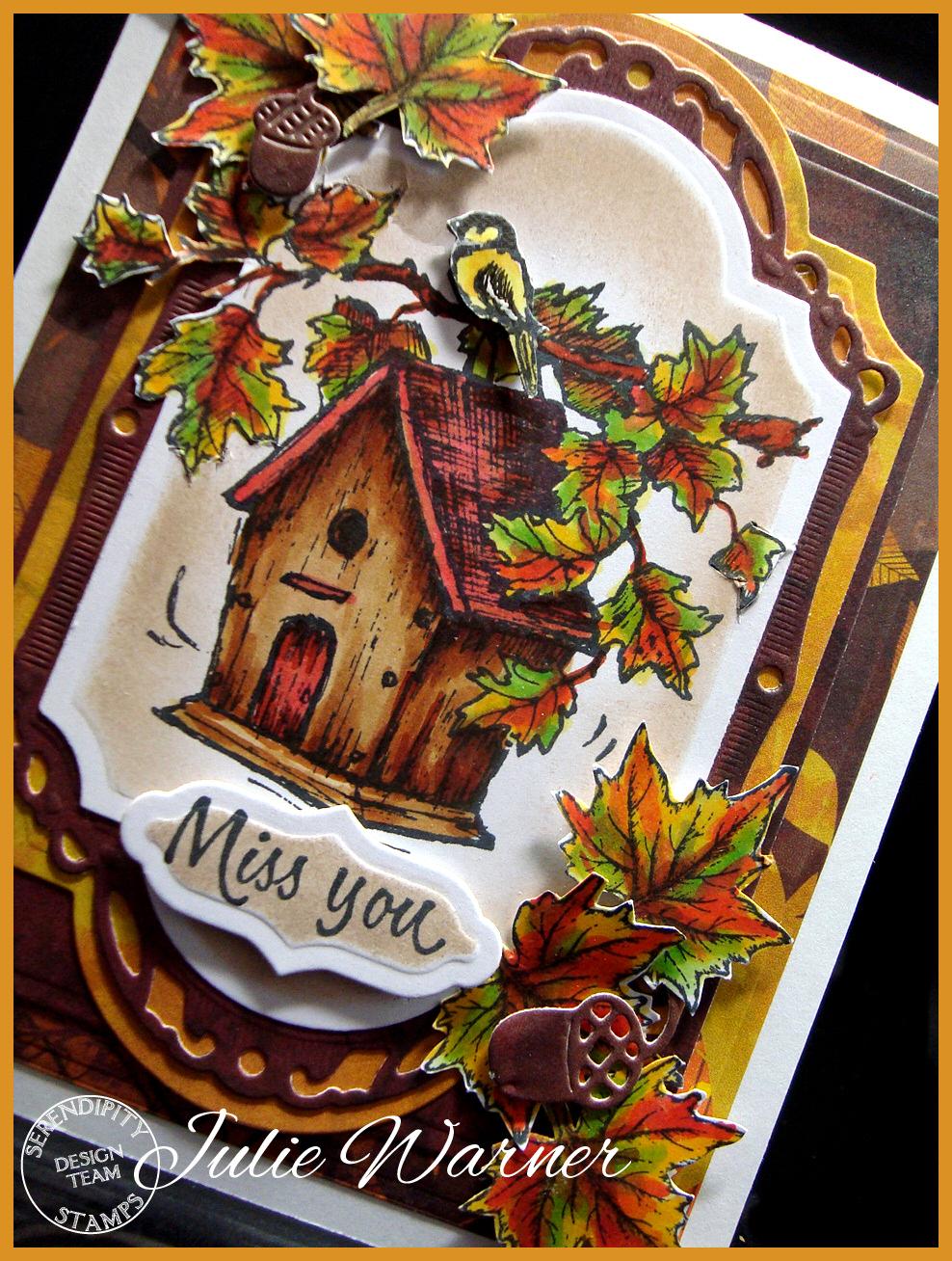 Autumn Birdhouse cu04973