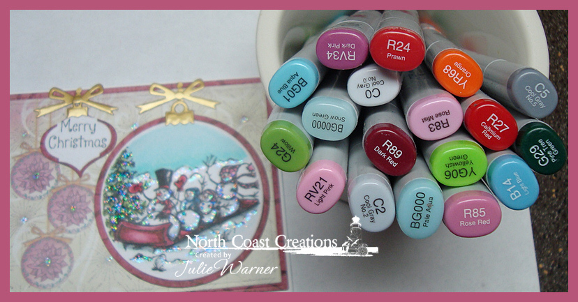 NCC Snow Family Ornament copics 04948