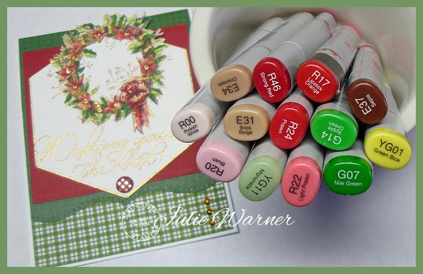 Holly Wreath copics 05306
