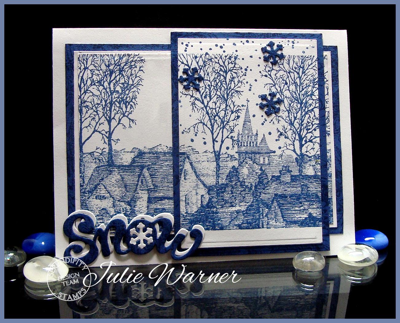 Blue Winter Town 05461