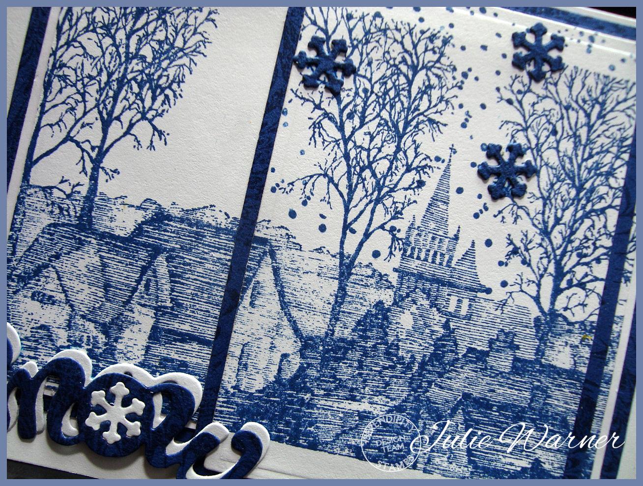 Blue Winter Town cu05465