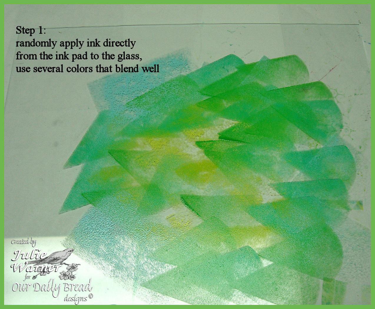 No gel plate step01 glass  01518 odb