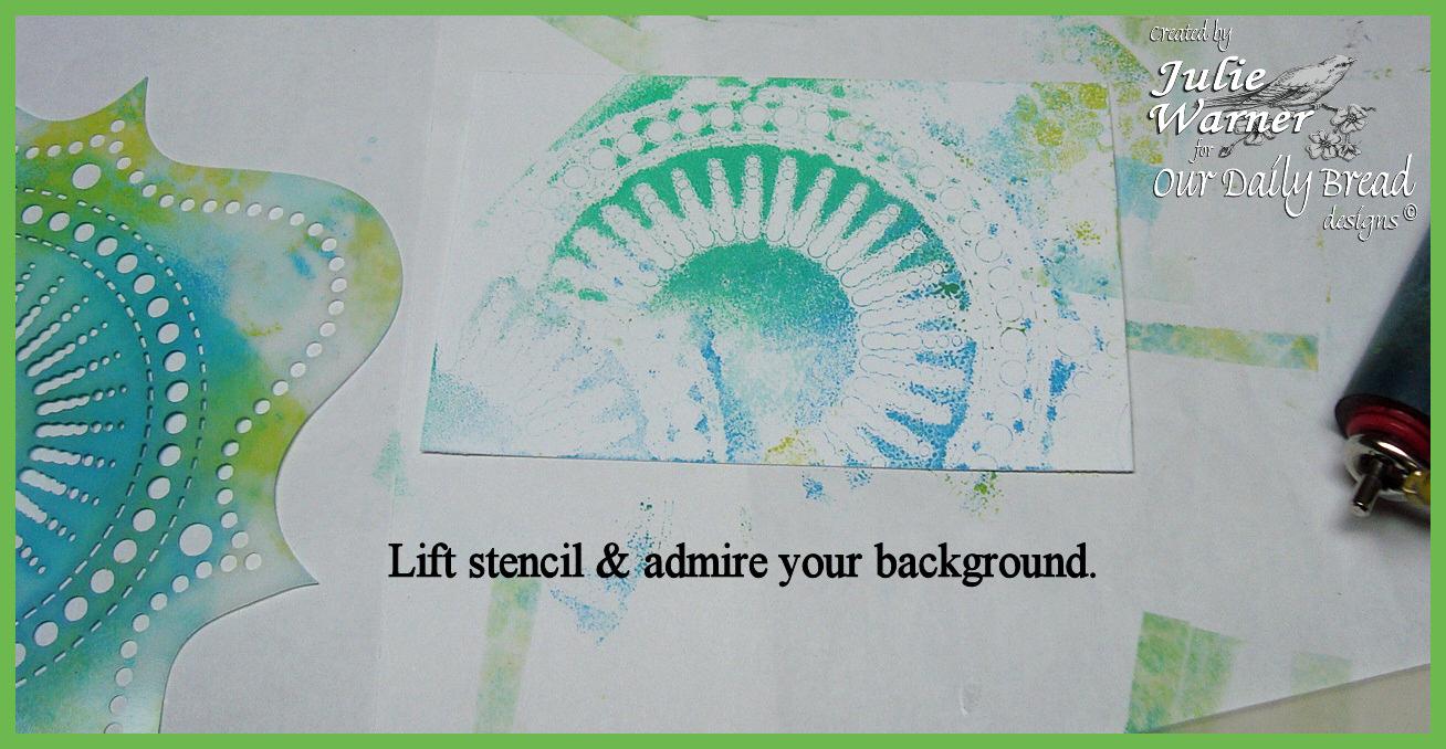 No gel plate step14 stencil 01516 odb