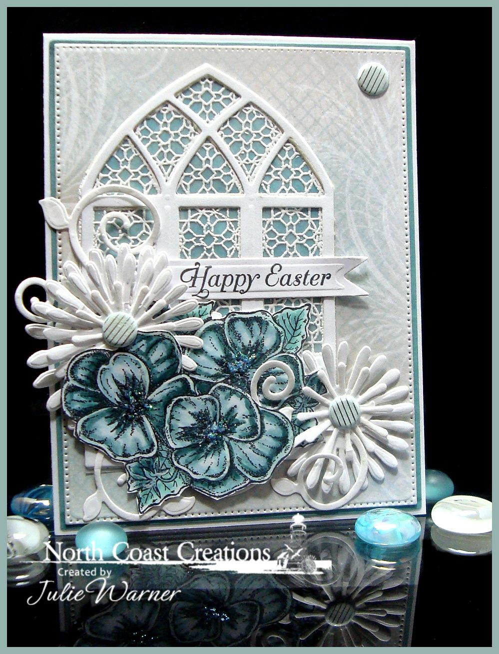 NCC Teal Easter Pansies 05791