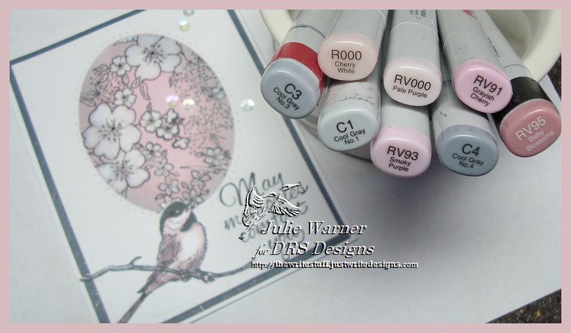 Floral Oval Sympathy copics 06104