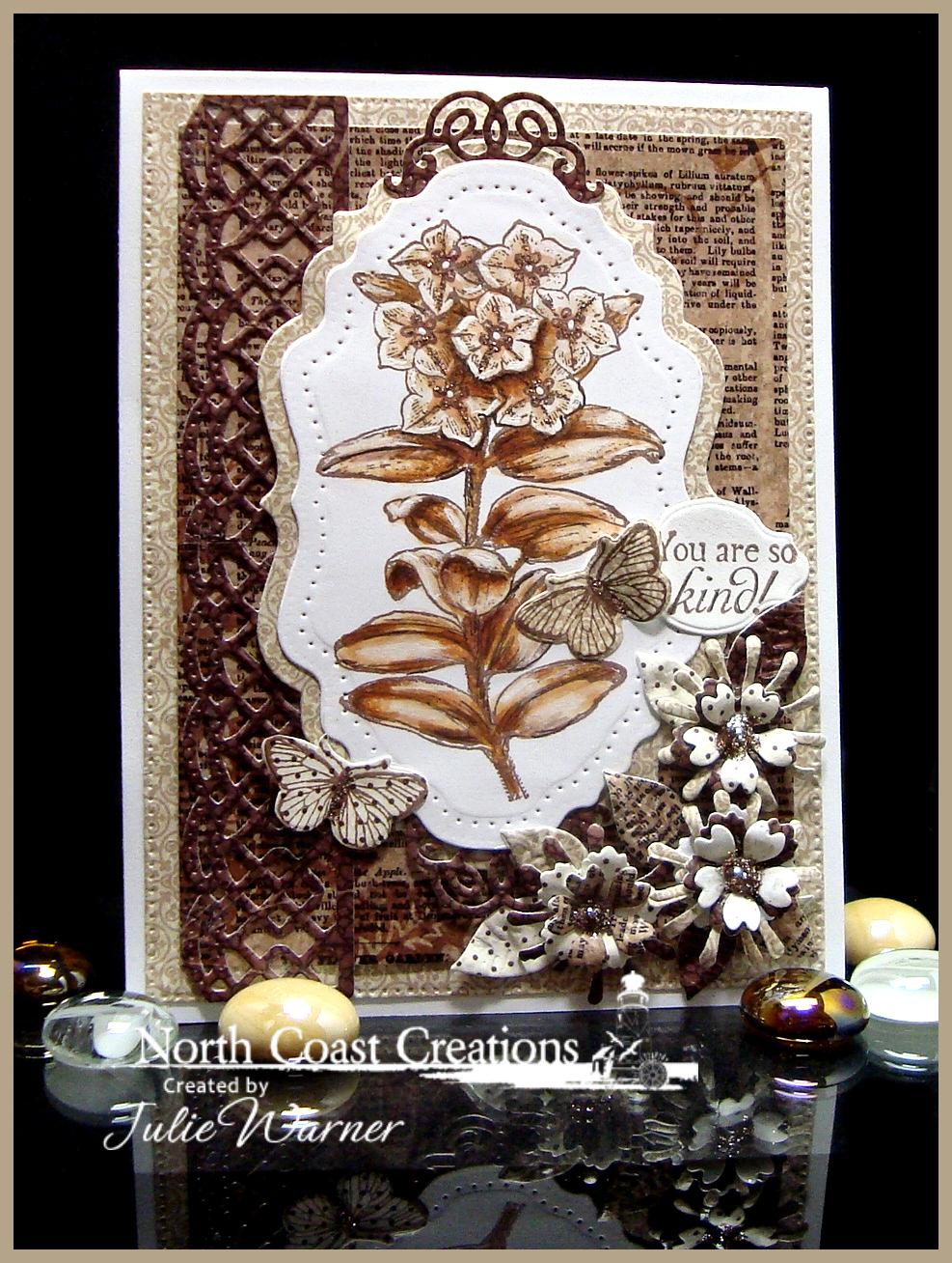 NCC Sepia Flowers 06604