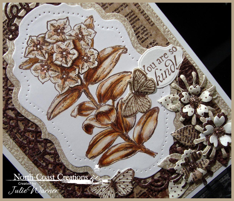 NCC Sepia Flowers cu 06605