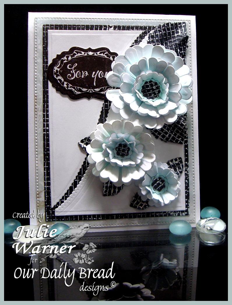 Aqua Flowers 07393
