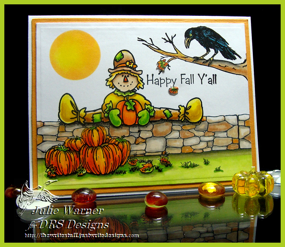 Fall Scarecrow on Wall 07582