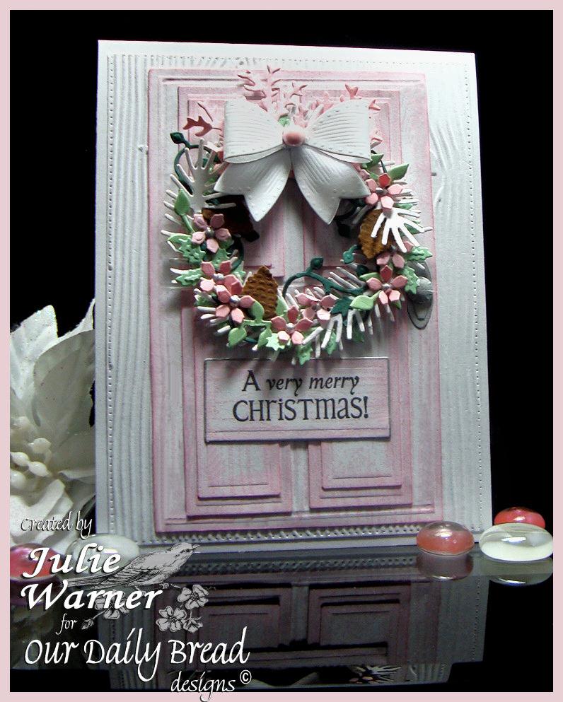 Pink Christmas Door 07692