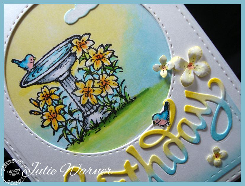 Birdbath Birthday cu 08506