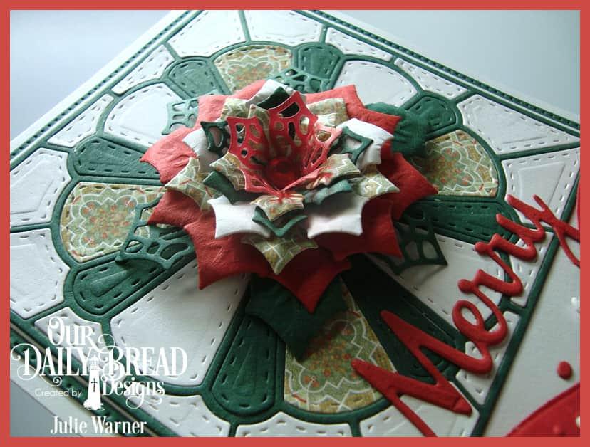 Christmas Poinsettia Quilt xcu 08923