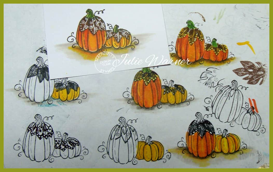 Autumn Pumpkins practice sheet 09779