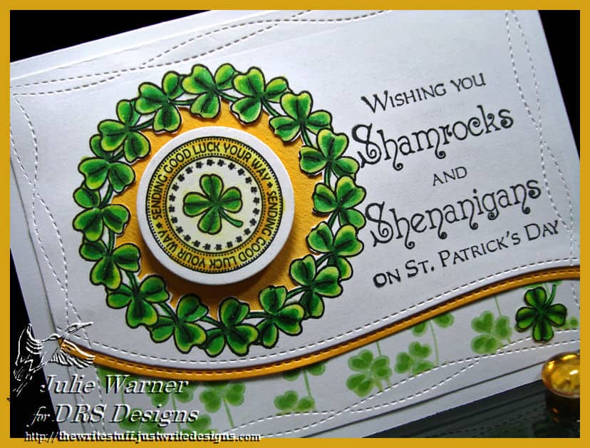 Silhouette Shamrock Field Rubber Stamp by DRS Designs Rubber Stamps